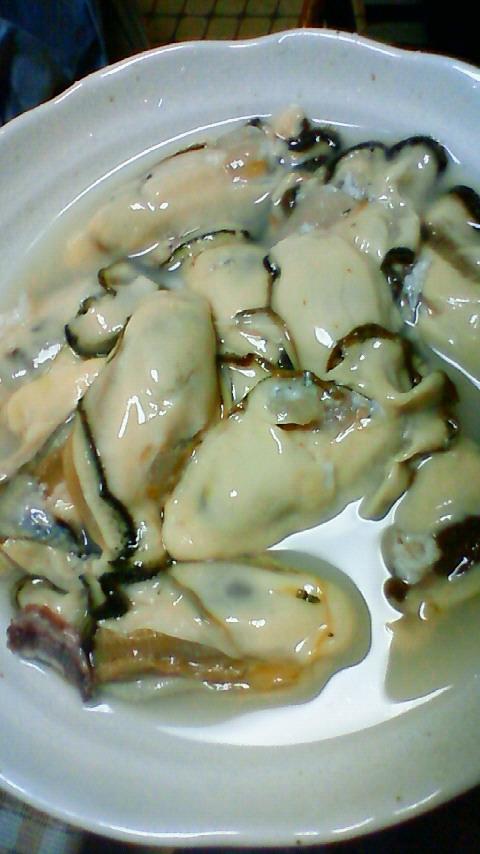 昨日の牡蠣料理