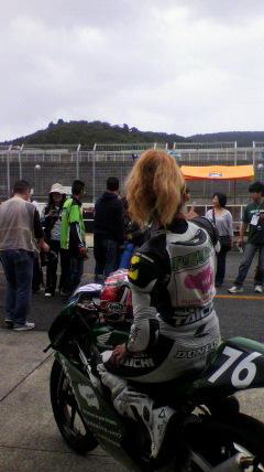 岡山全日本ロードレースピットウォーク