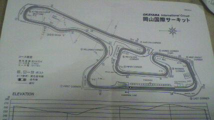 岡山サーキットのコース図