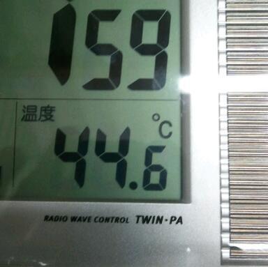 今日のガレージ温度