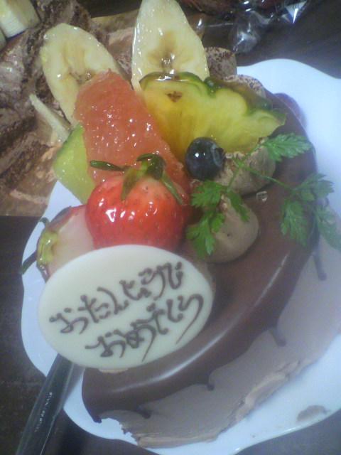本当の誕生日ケーキ