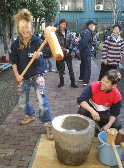 ヒポポタマス大野さん町会餅つき大会