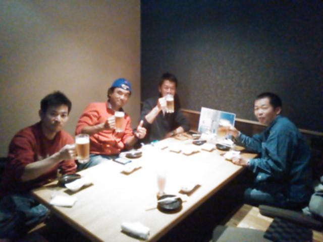 岡山レースの土曜日の夜
